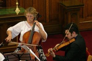 Tanya Prochazka, cello and Charles Pilon, viola at Robertson-Wesley United Church, for the Fall 2012 Season