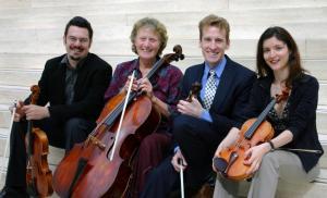 Charles Pilon, viola, Tanya Prochazka, cello, Guillaume Tardif, violin, Virginie Gagné, violin