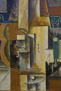 Picasso - Violin and guitar (c. 1912)